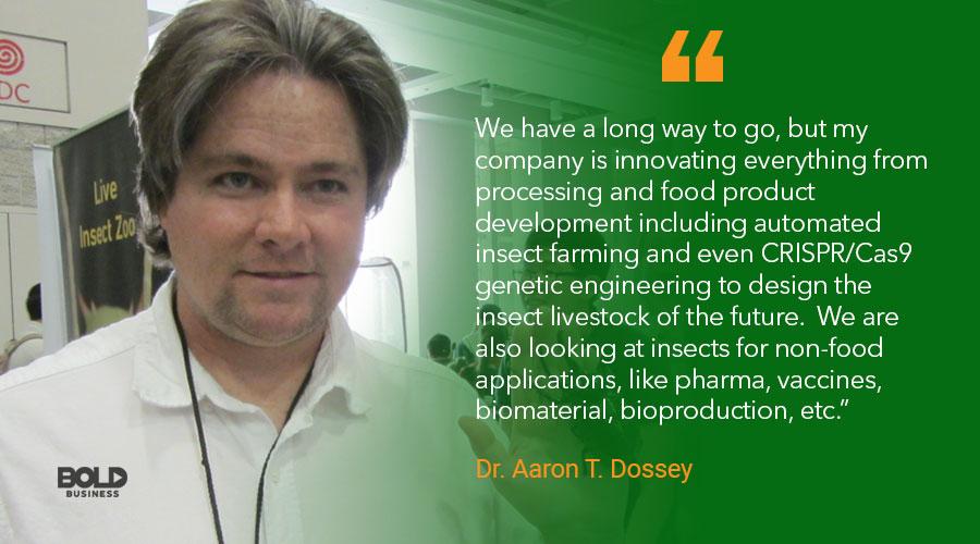 edible bugs, aaron dossey quoted