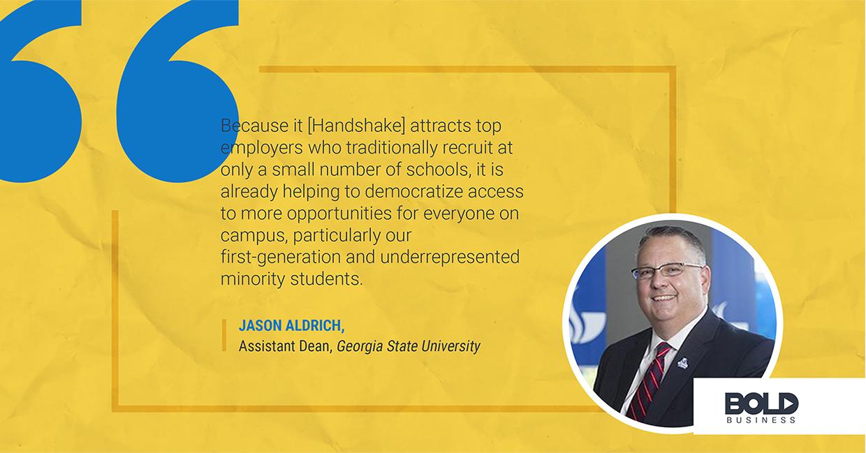 Handshake provides opportunities to minority students.