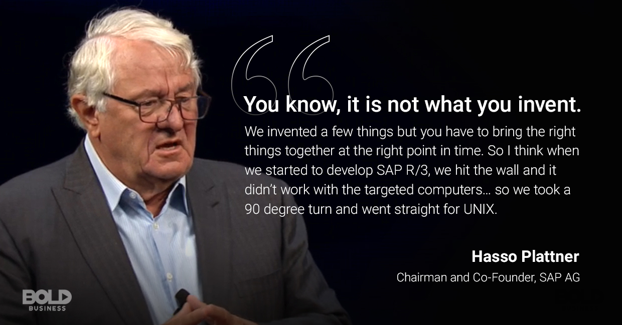 enterprise software solutions, hasso plattner quoted
