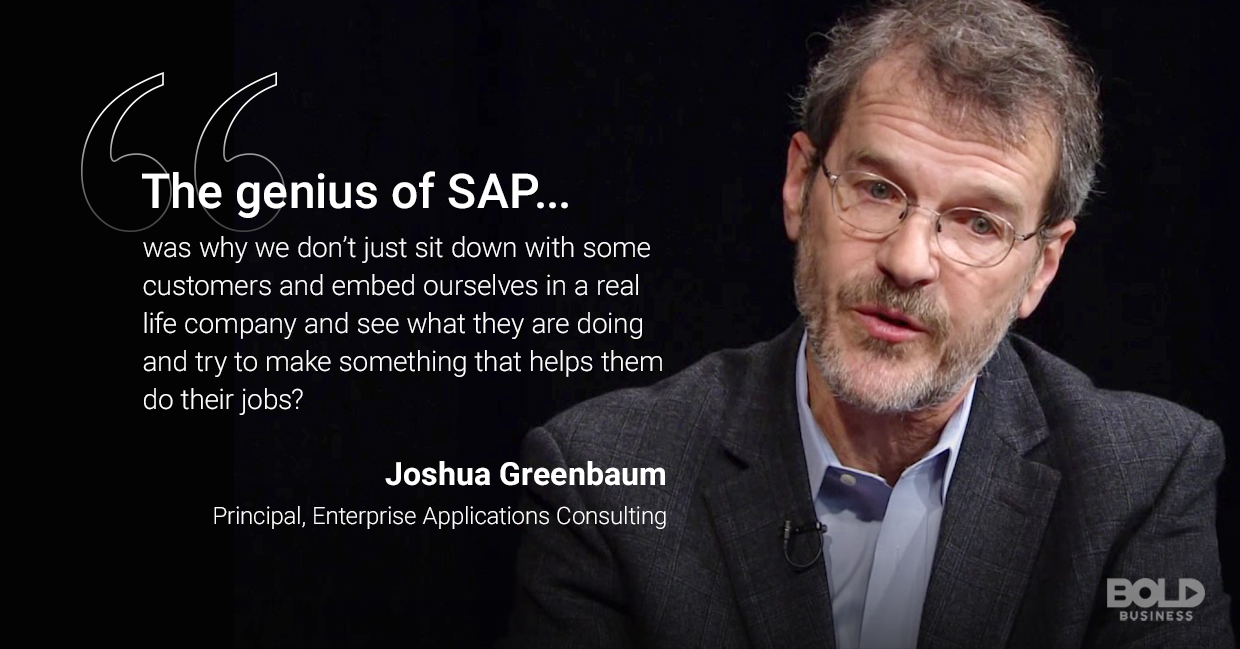 sap technology, joshua greenbaum quoted