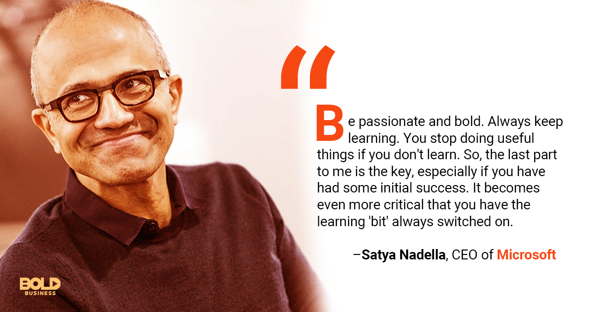 a photo image of Satya Nadella relevant to the discussion on Microsoft's LinkedIn Strategy