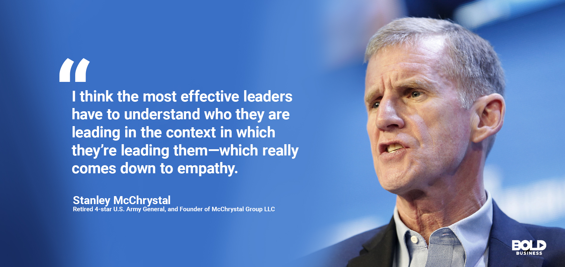 McChrystal talks about being bold in leadership