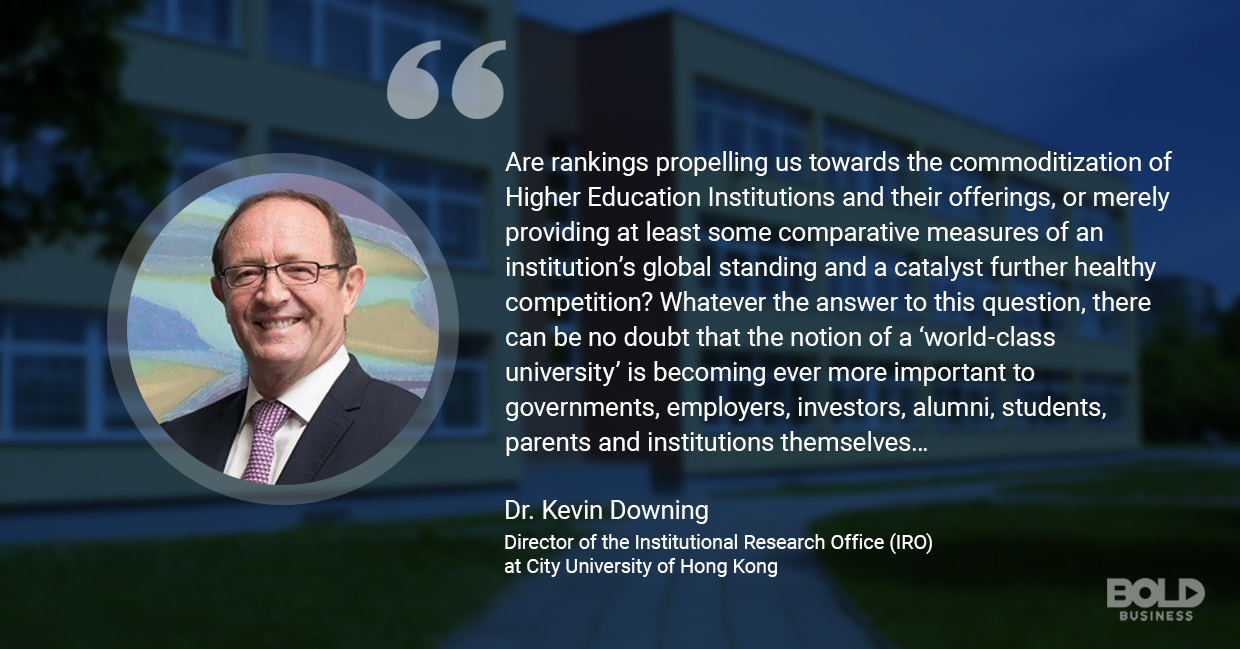 U.S. News and World Report University rankings, dr. kevin downing quoted