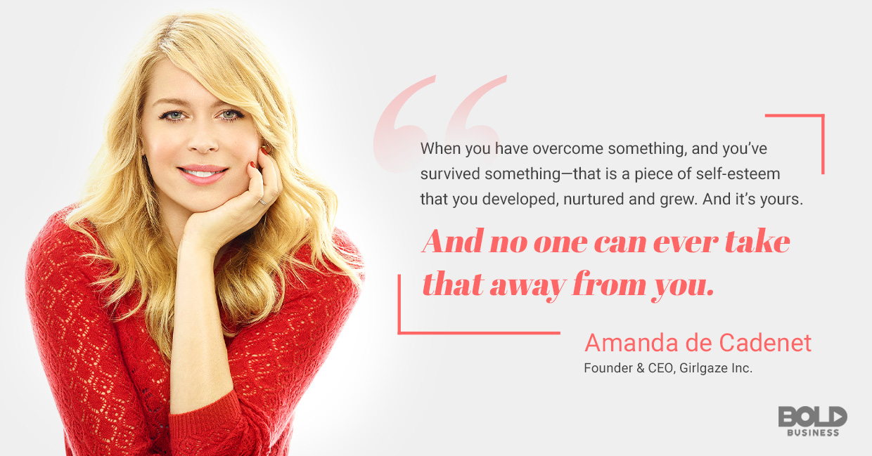 a photo quote of Amanda de Cadenet on self-esteem