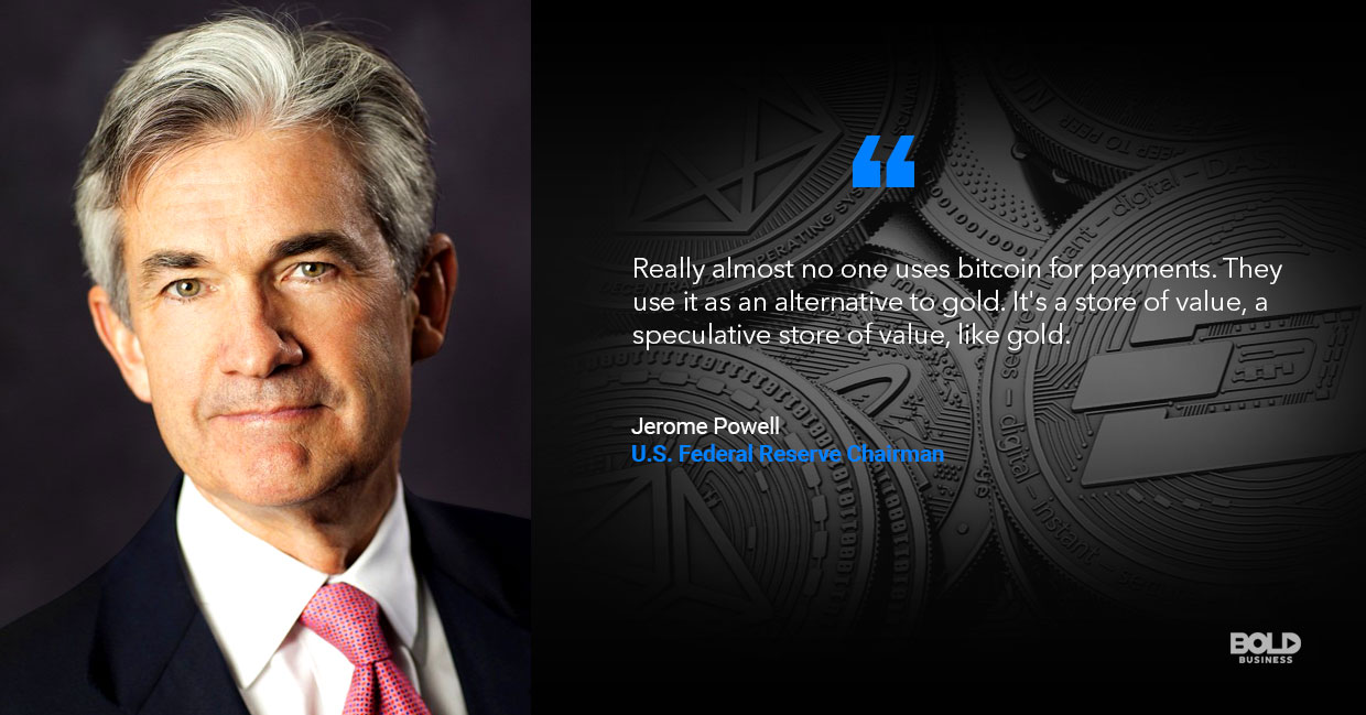 cyrptocurrency regulation, jerome powell quoted