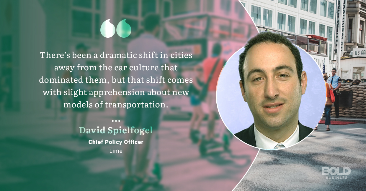 a photo quote of David Spielfogel amid the fact that electric scooter safety woes continue to mount