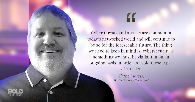 Shane Morris talks cybersecurity attacks