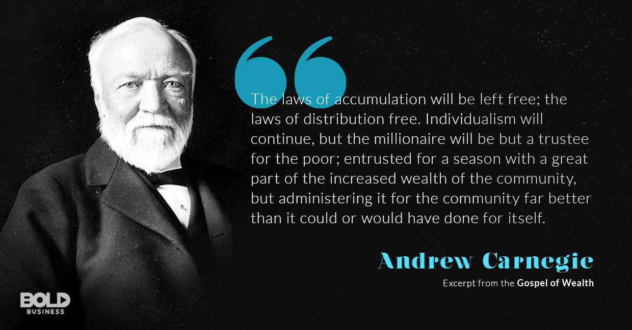 Andrew Carnegie Leaves Behind A Legacy In His Gospel Of Wealth