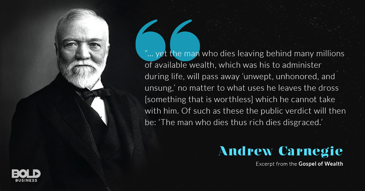 andrew carnegie and his principles in the gospel of wealth