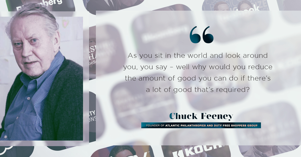 gospel of wealth significance, chuck feeney quoted