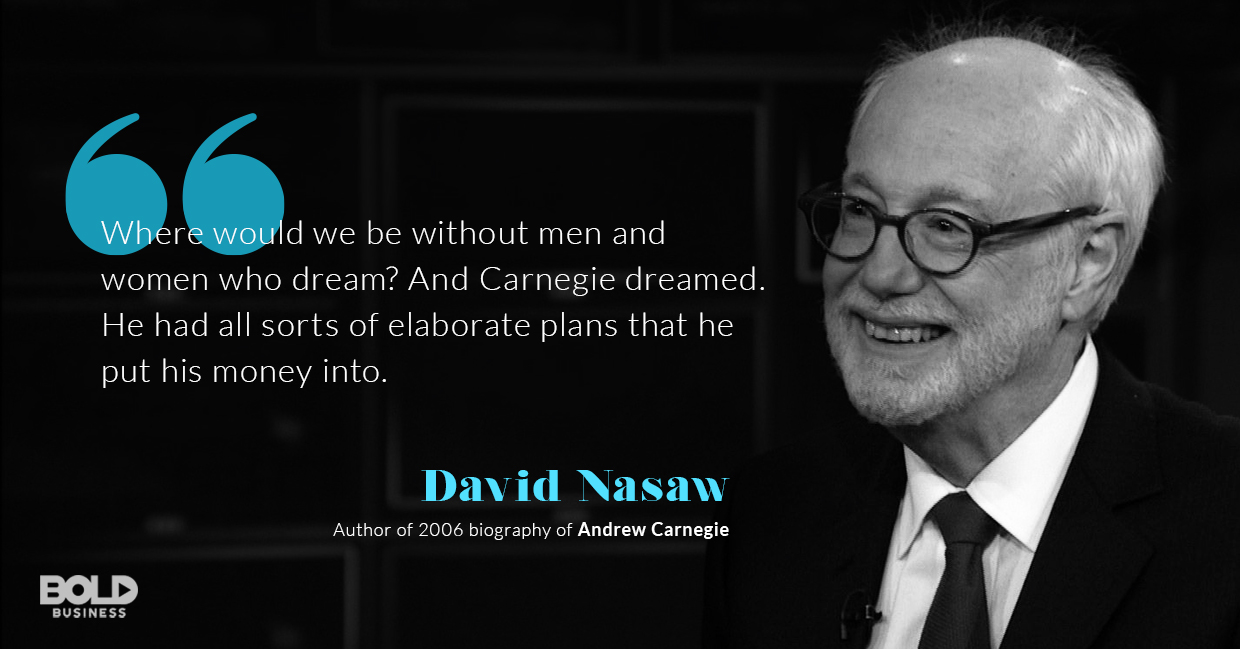 gospel of wealth, david nasaw quoted