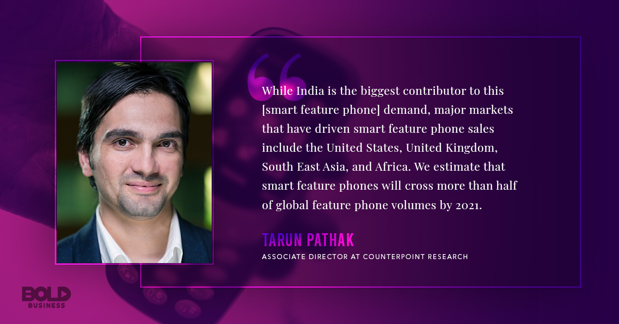 dumb phones, tarun pathak quoted