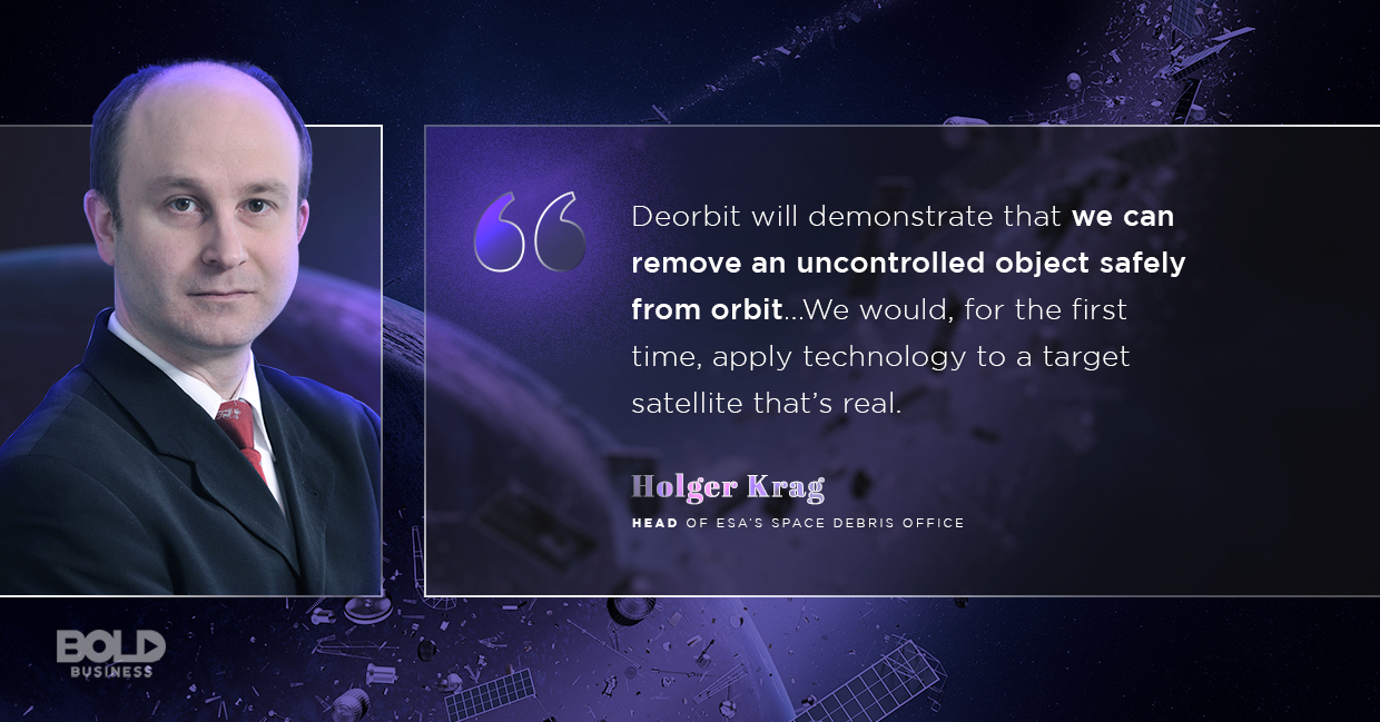 space debris, holger krag quoted
