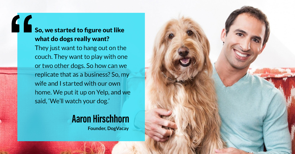 a photo quote of Aaron Hirschhorn in connection to the topic of the pet industry growth