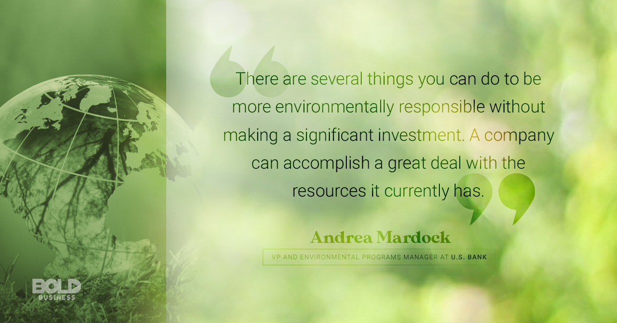 environmental sustainability, andrea mardock quoted