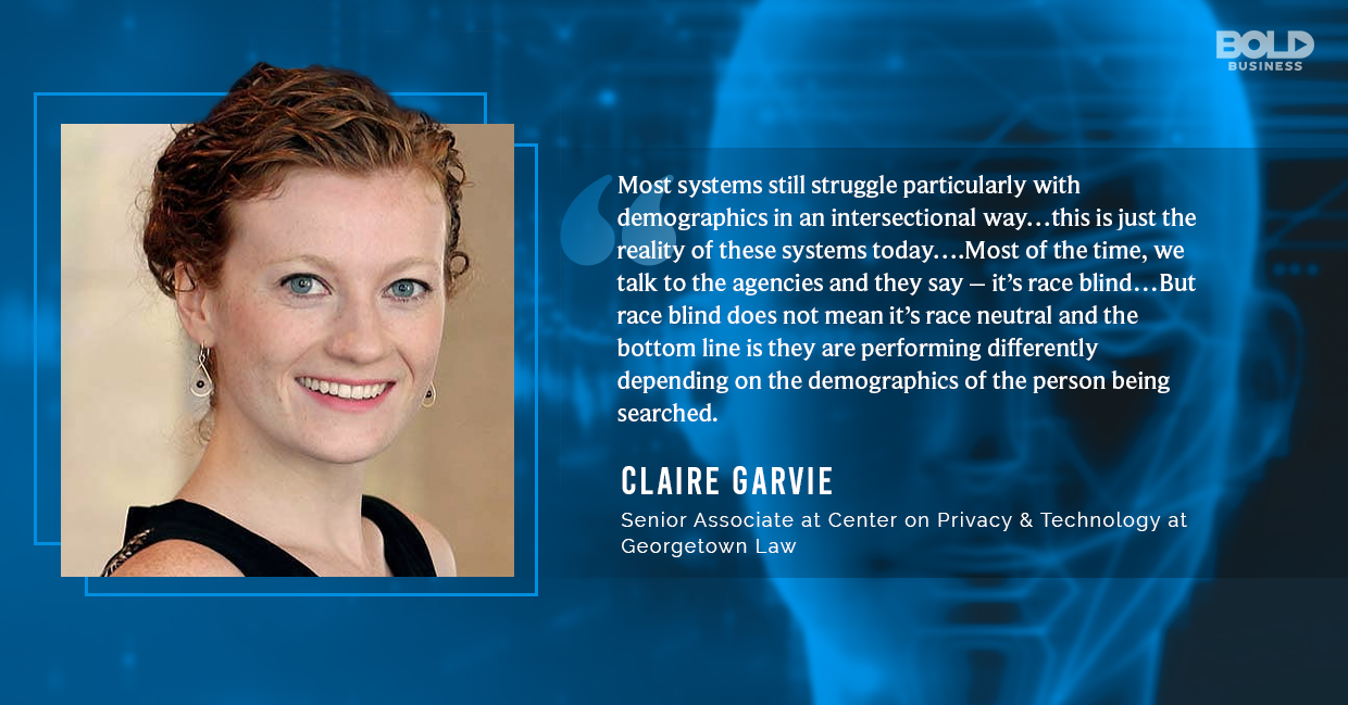 facial technology recognition, claire garvie quoted