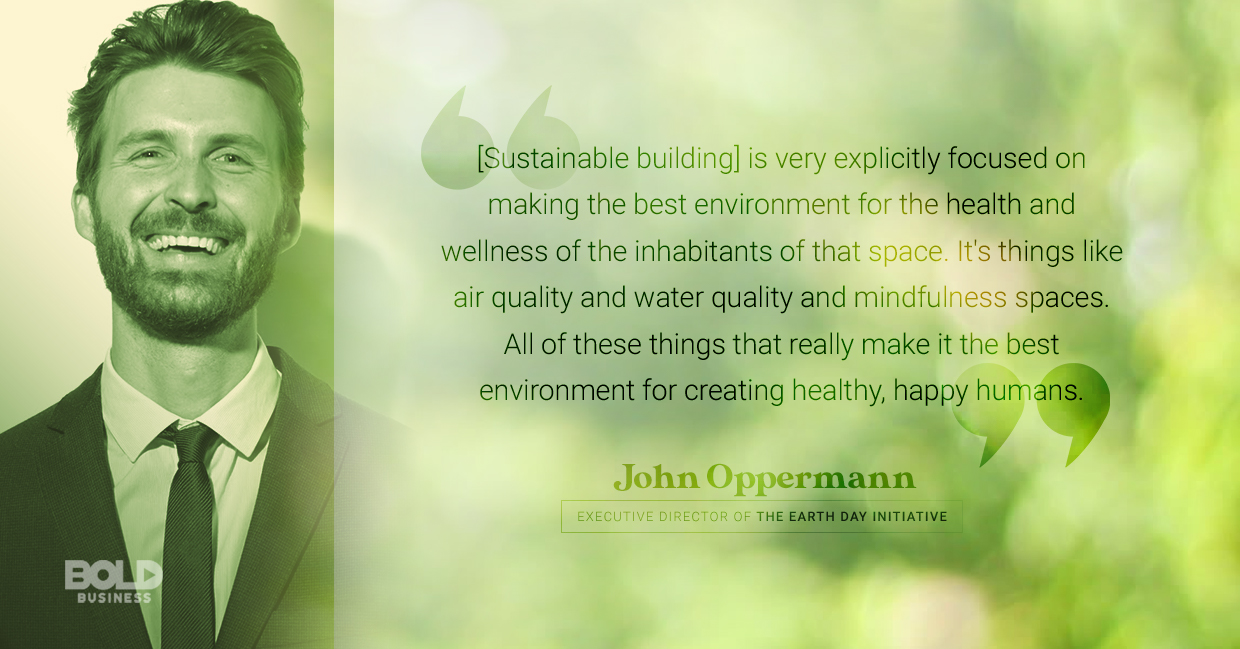 sustainable practices, john oppermann quoted