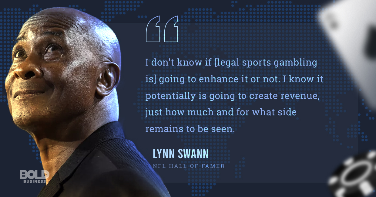 legal sports gambling, lynn swann quoted