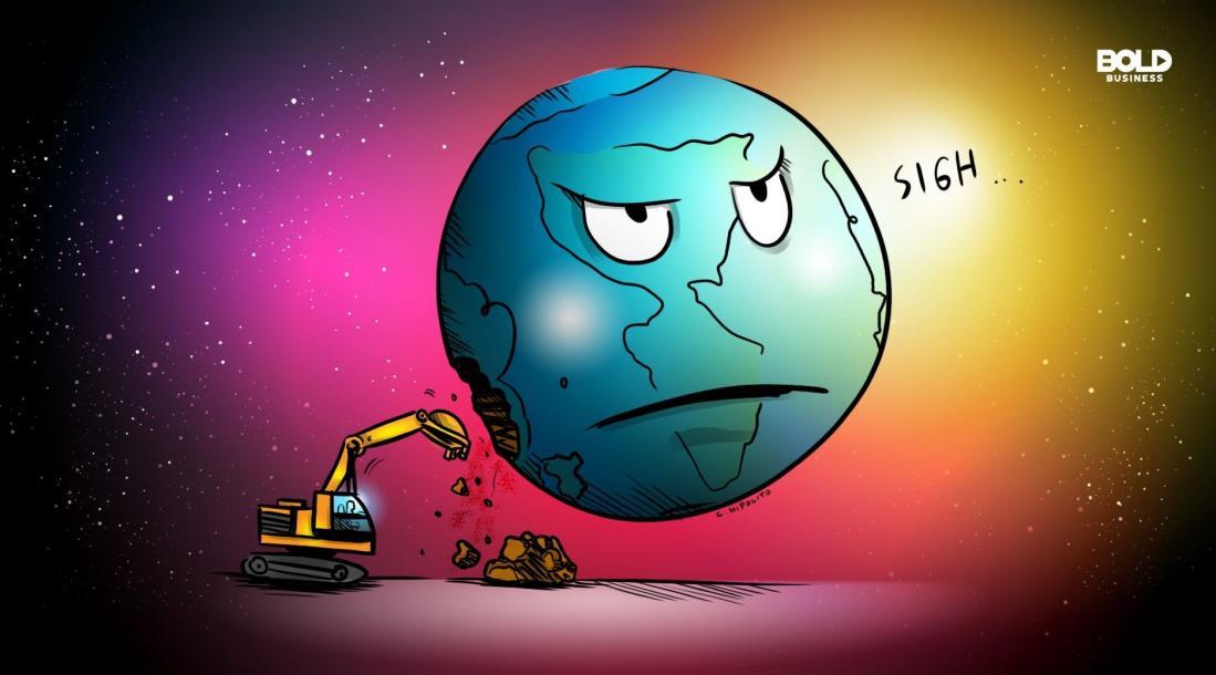 environmental sustainability, globe cartoon