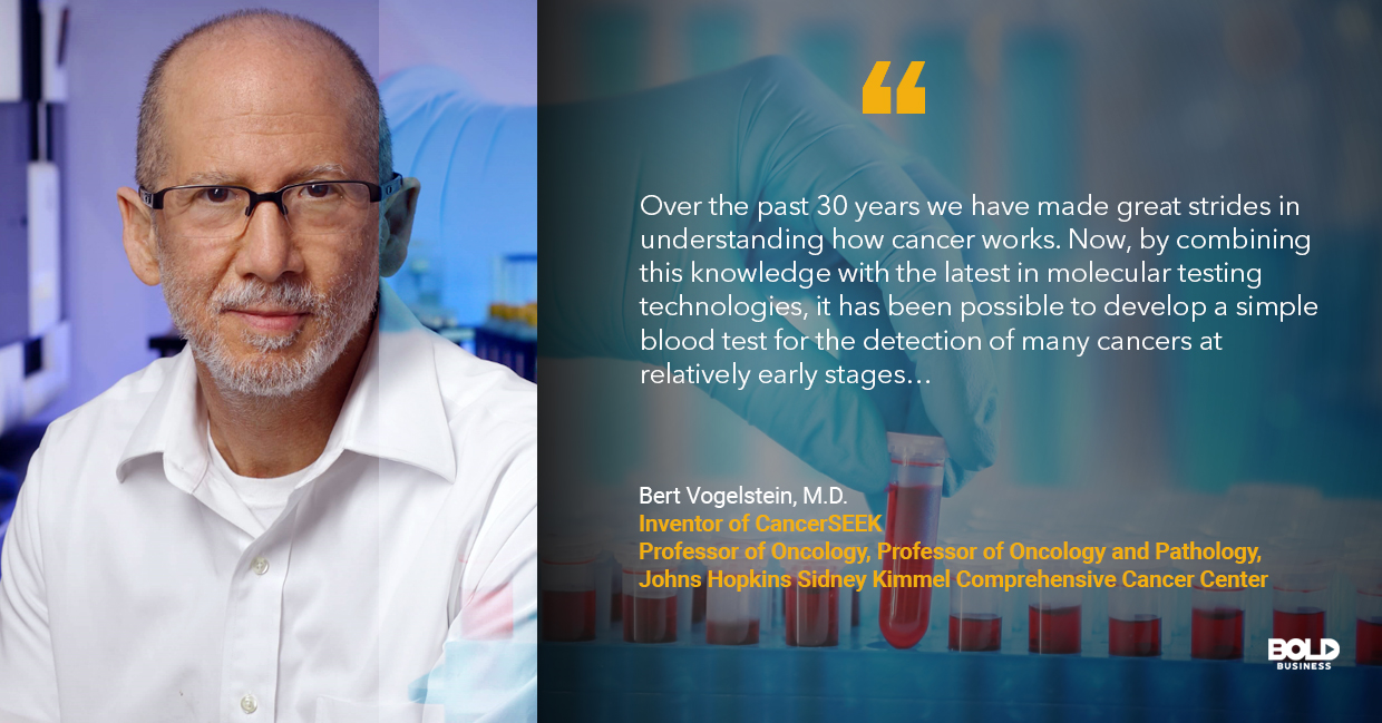 blood test for cancer, bert vogelstein quoted
