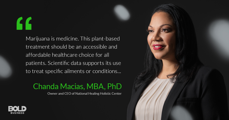 Chanda Macias talking medical cannabis