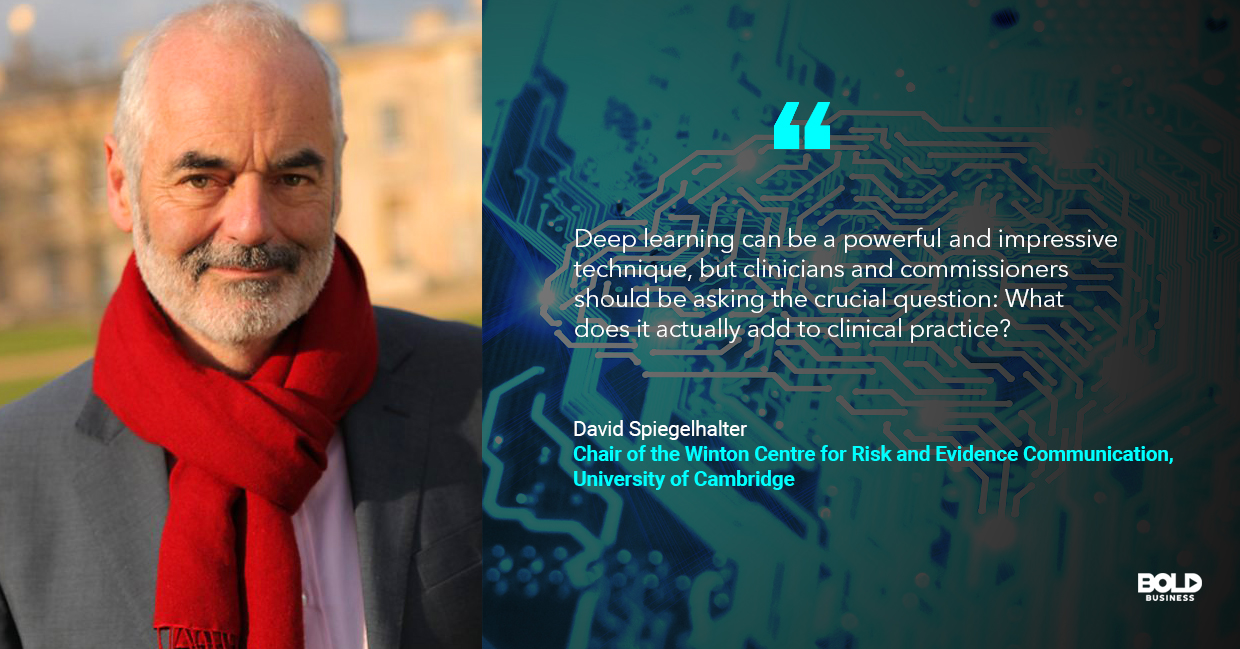 deep learning algorithms, david spiegelhalter quoted