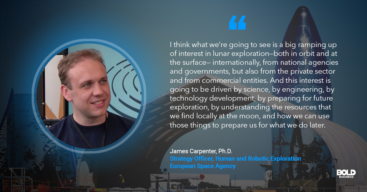 a photo quote of James Carpenter in relation to the topic of the SpaceX Starship
