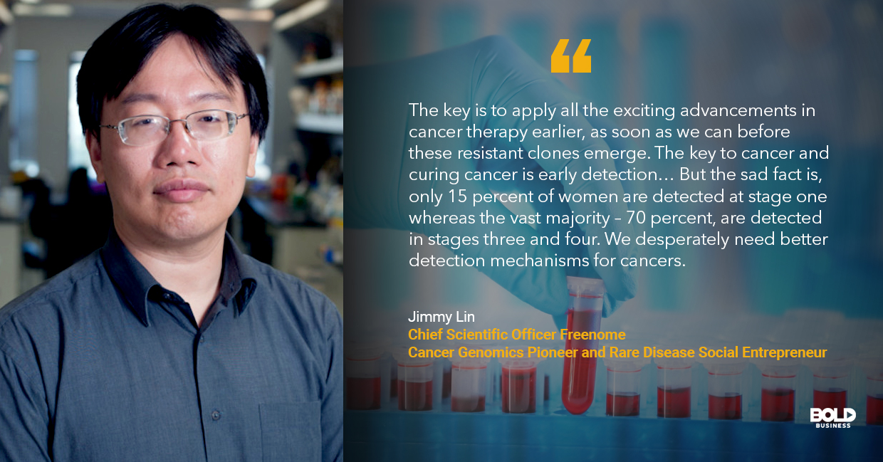 dna blood test for cancer, jimmy lin quoted