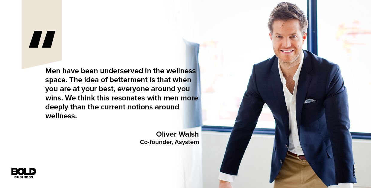 male wellness, oliver walsh quoted
