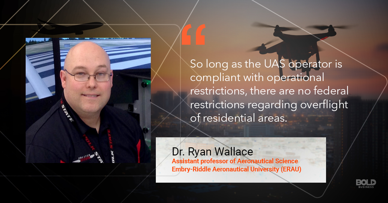 Drone regulations, Ryan Wallace quoted