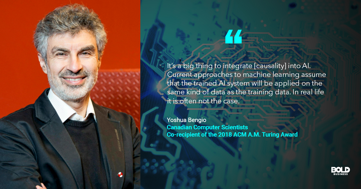 deep learning algorithms, yoshua bengio quoted