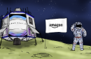Blue Moon Lunar Lander cartoon
