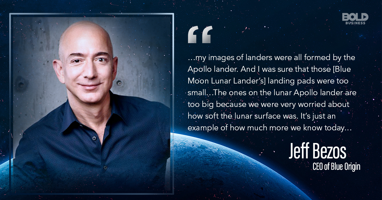 Blue Moon Lunar Lander Blue Moon CEO Jeff Bezos quoted.