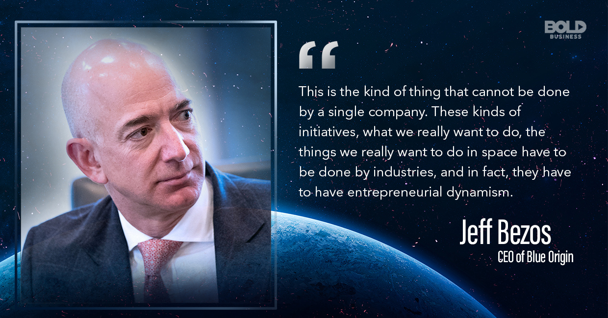 Blue Moon Lunar Lander Blue Origin CEO Jeff Bezos quoted.
