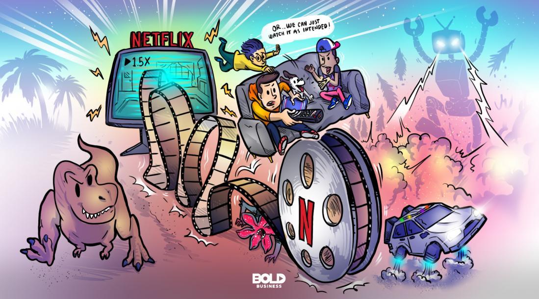 Netflix playback speed cartoon