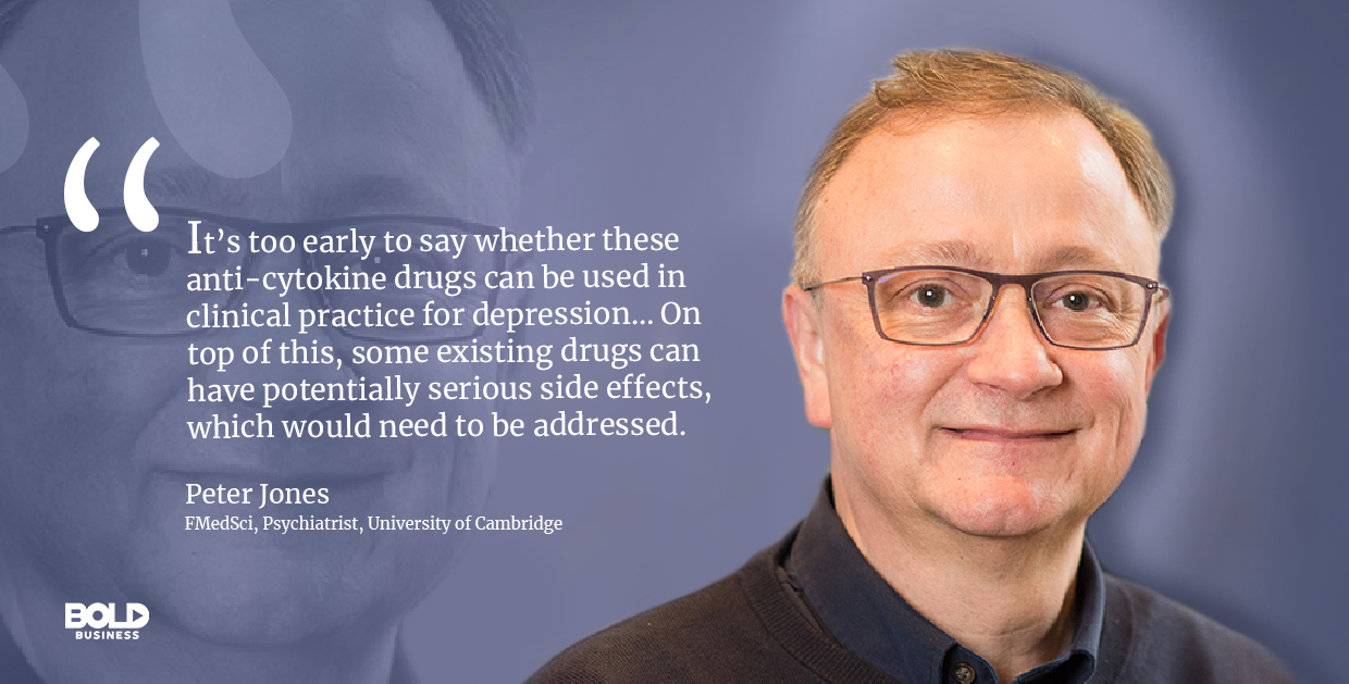 New depression treatment need more research work, Peter Jones quoted.