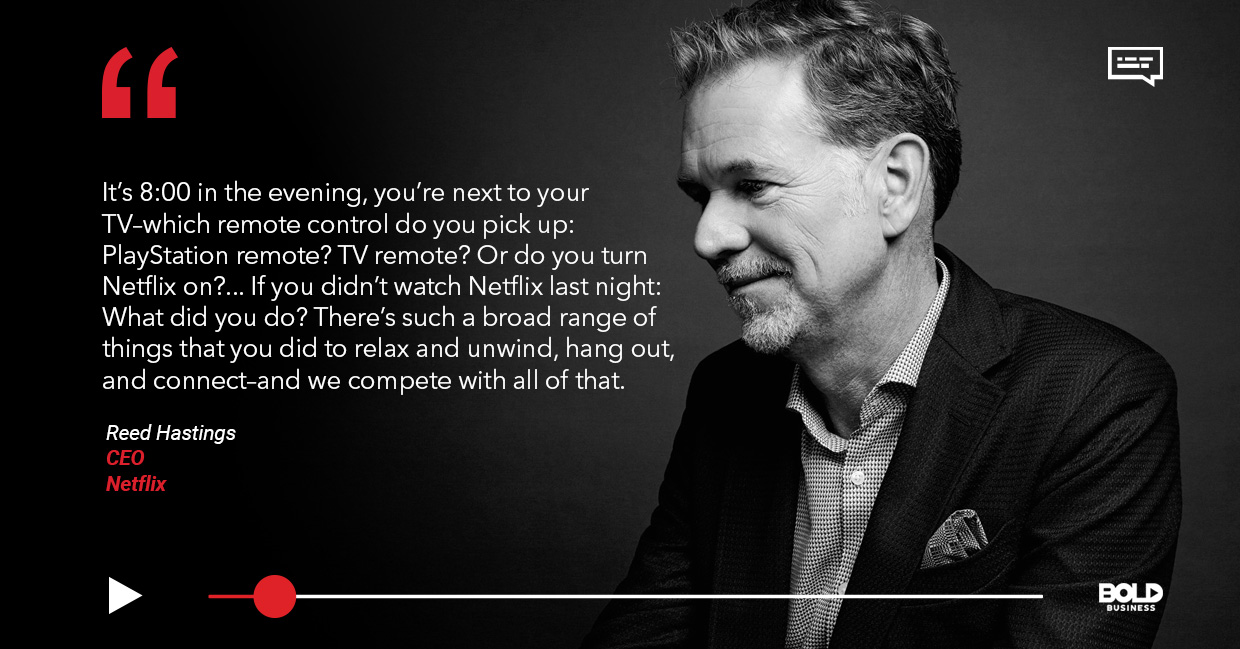 Netflix playback speed, Reed Hastings quoted.