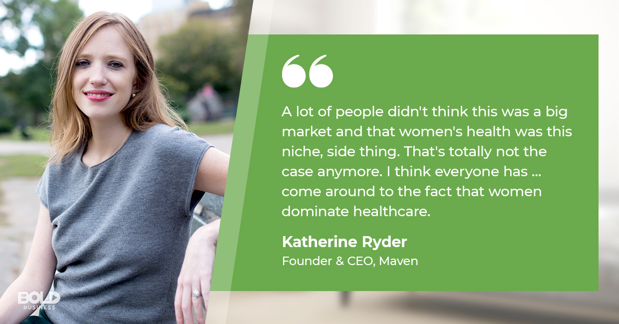 a photo quote of Katherine Ryder in relation to the topic of apps for female health available today