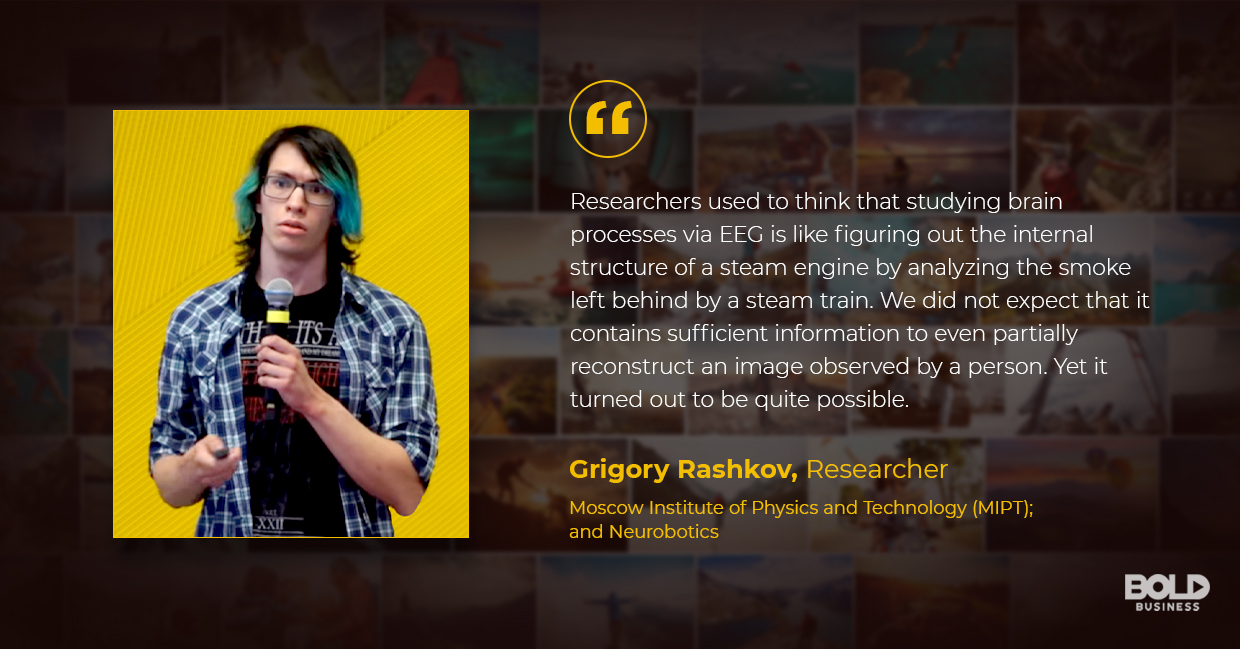 a photo quote of Grigory Rashkov in relation to the topic of the evolving brain computer interface
