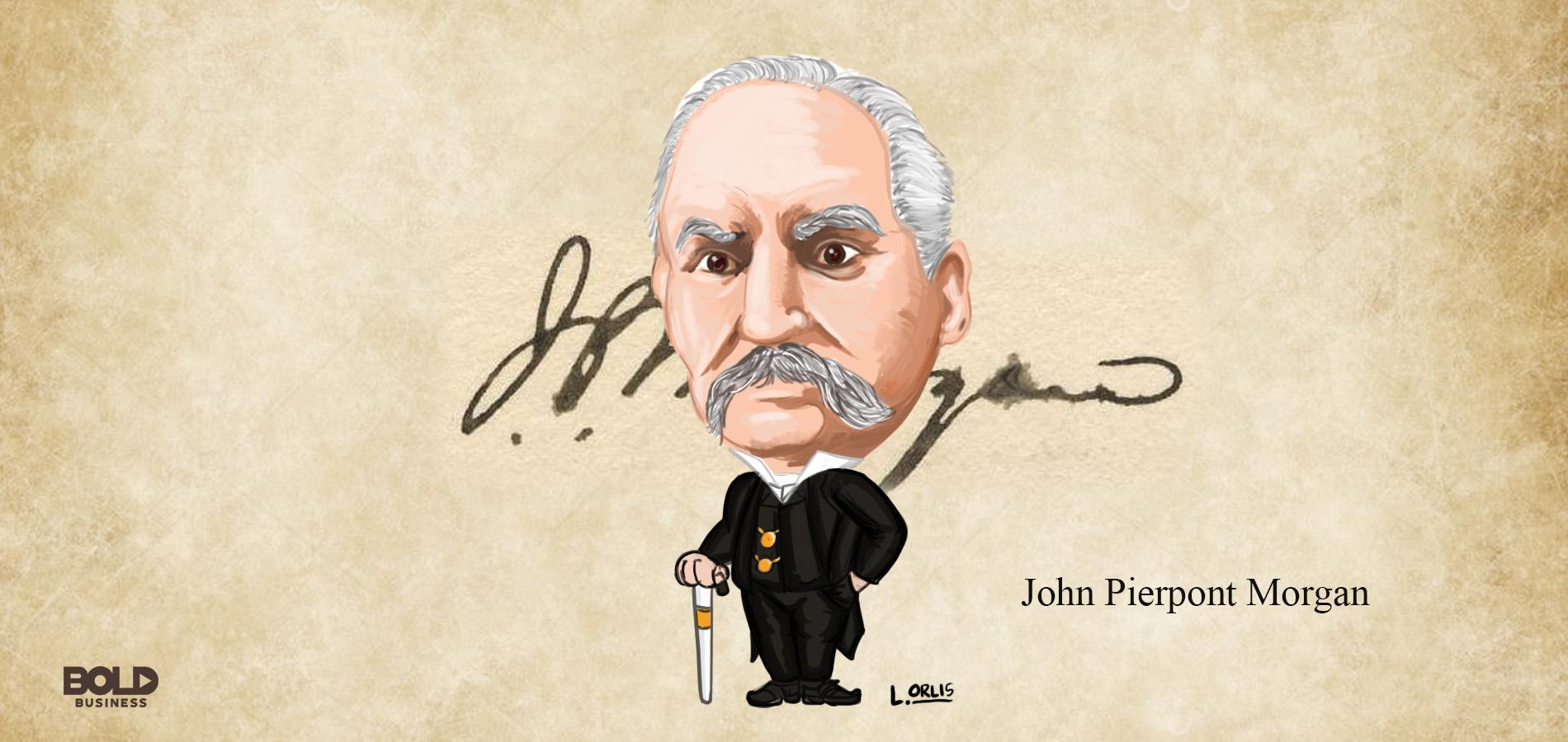 cartoon of bold leader john pierpont morgan