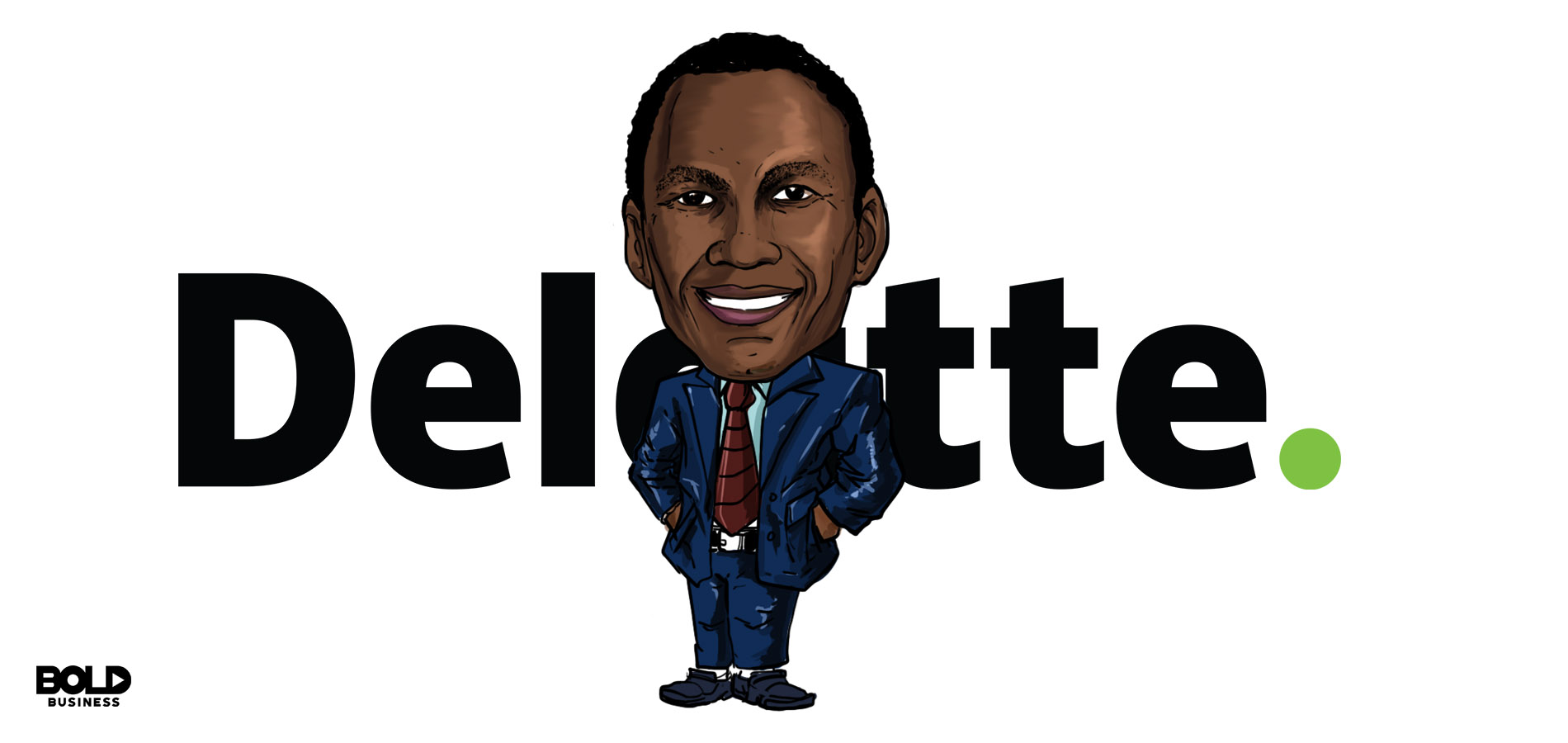 cartoon of Larry Quinlan of Deloitte