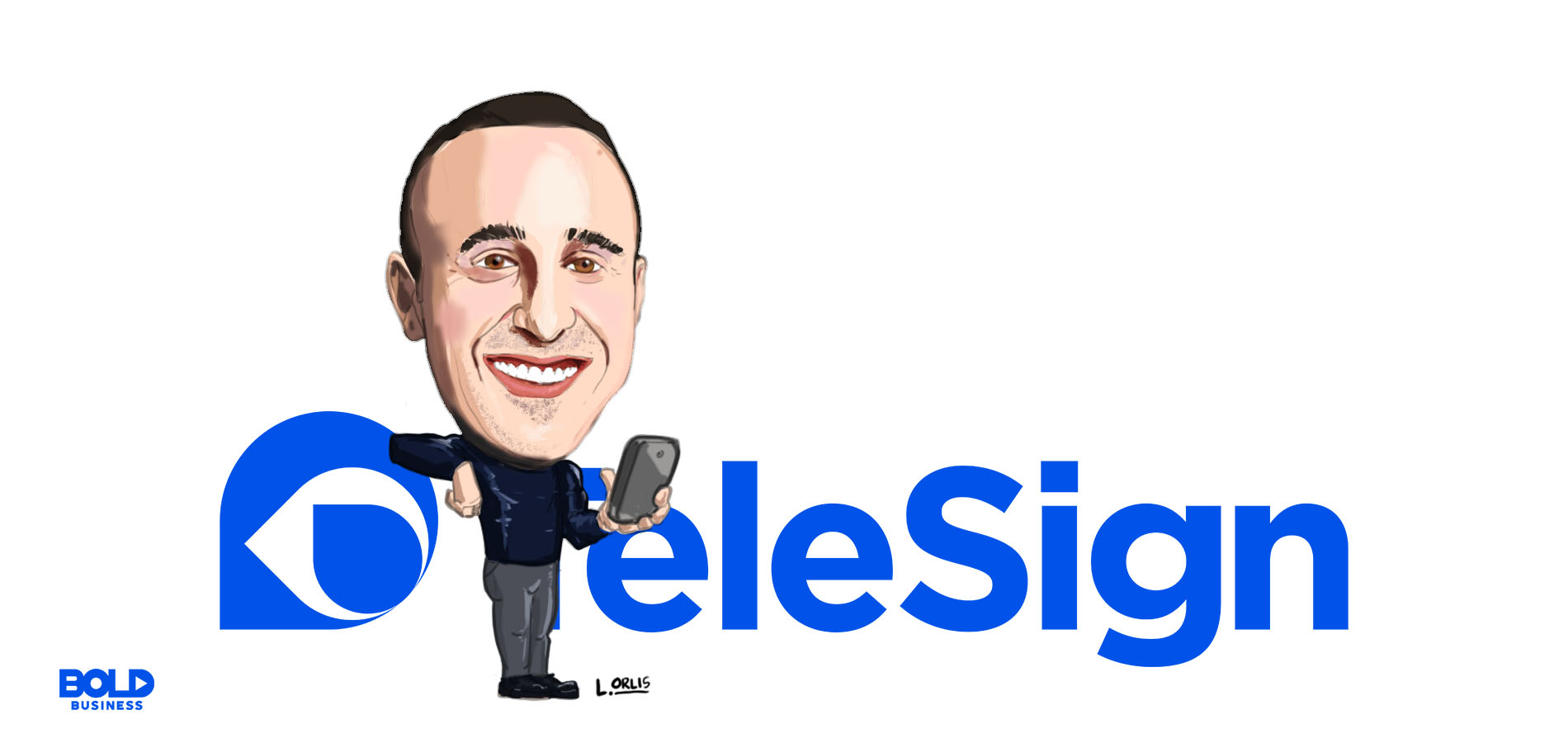 a cartoon of ryan disraeli of telesign revolutionized app and web security through the two factor authentication