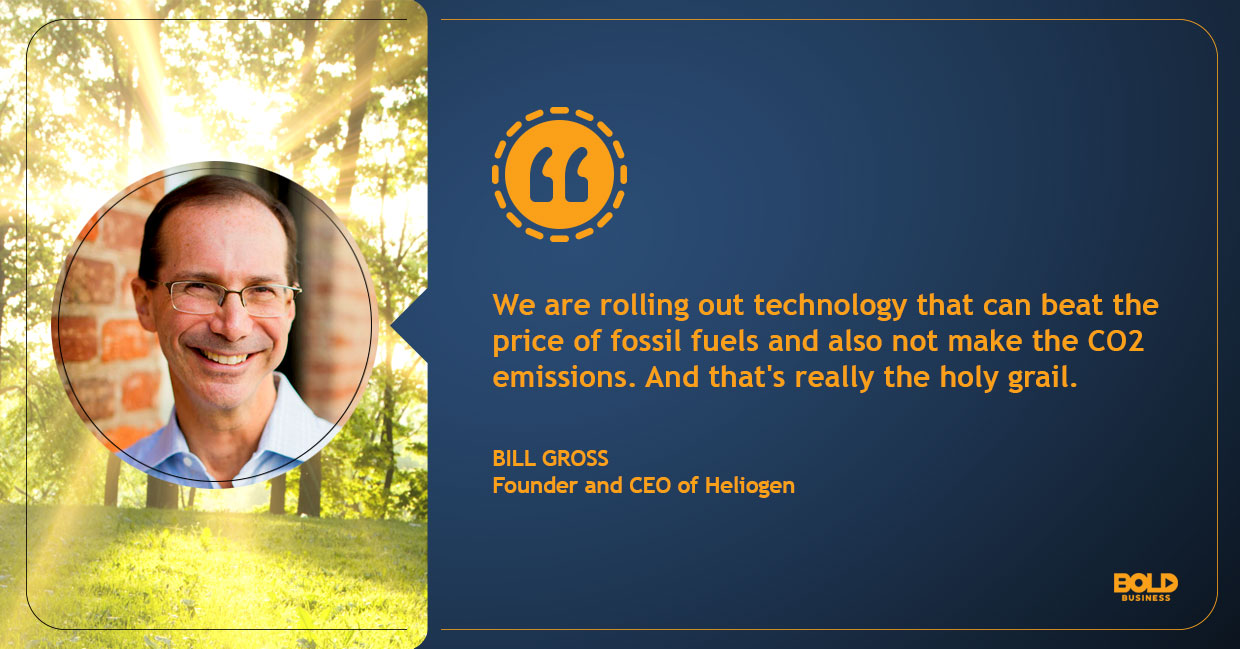a photo quote of Bill Gross in relation to the topic of Heliogen's new solar solution