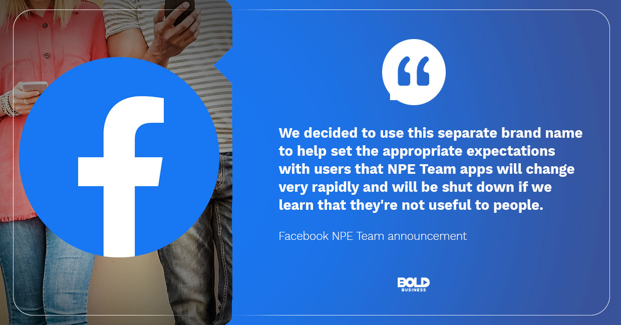 Facebook developing apps that people seem to want.