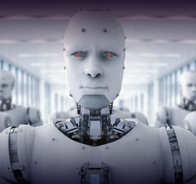 robot clones with human-like features