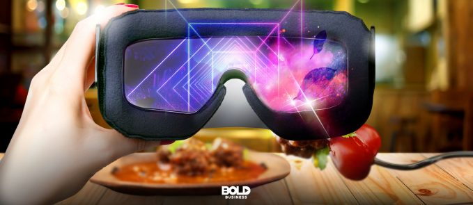 Virtual dining using virtual reality goggles