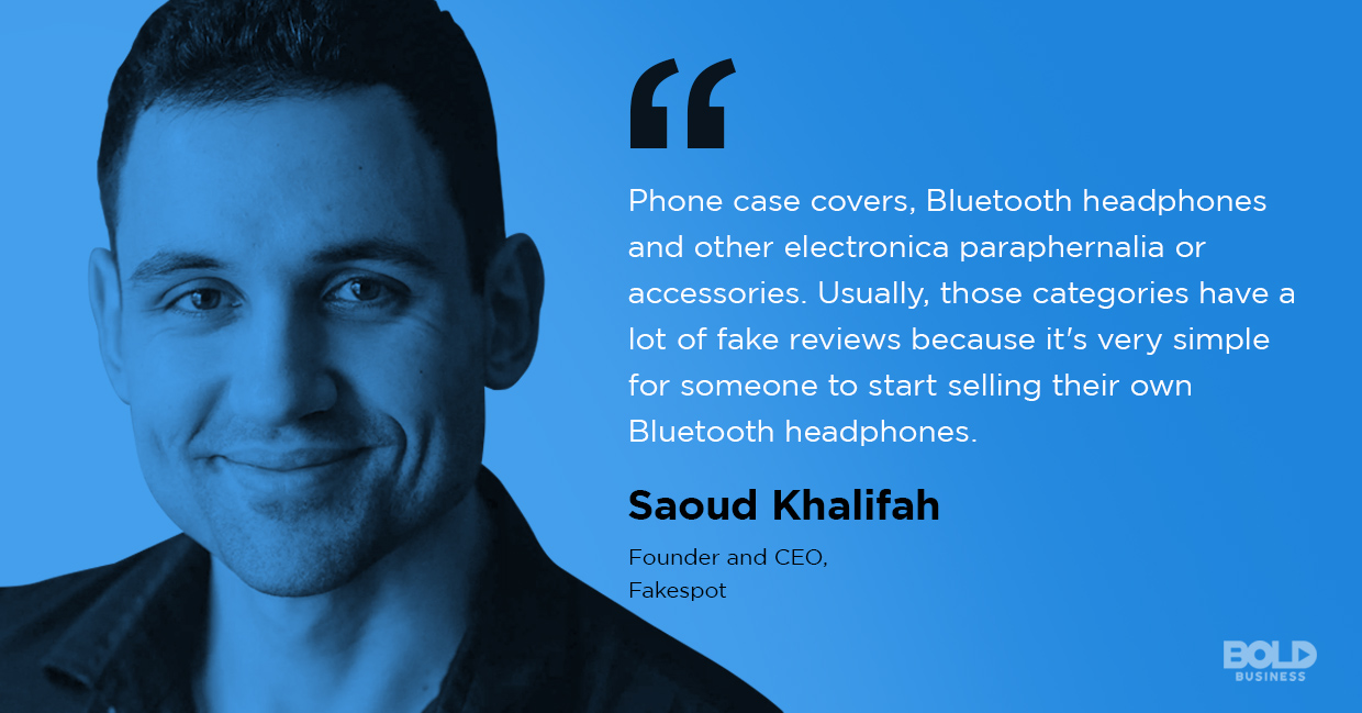 photo quote of Saoud Khalifah amid the issue of fake reviews online