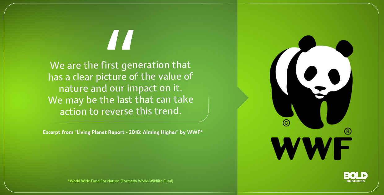 photo quote containing an excerpt from a 2018 report from WWF that is in relation to our attempt in fighting poaching