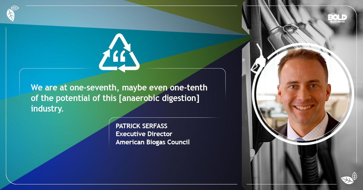 photo quote of Patrick Serfass in relation to the topic of food-recycling techniques or recycling food for fuel