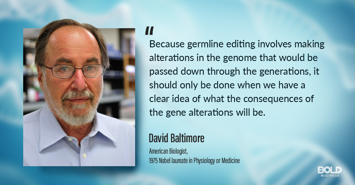 genetic engineering, david baltimore quoted